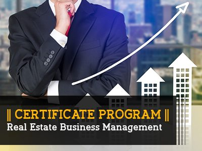 Certificate Program – Real Estate Business Management  || 4 Months || Self Learning Course