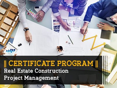 Certificate Program – Real Estate Construction Project Management || 6 Months || Self Learning Course