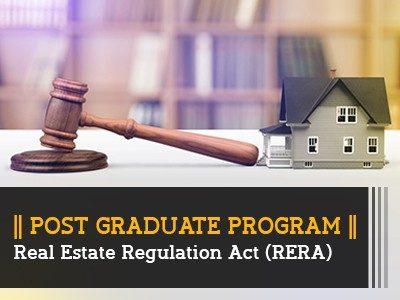PG Program – Real Estate Regulation Act (RERA) || 6 Months || Online Live Classes