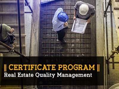 Certificate Program – Real estate Quality Management || 3 Months|| Self Learning Course